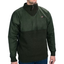 Mcalister Duration Turtleneck Sweater - Zip Neck (For Men) in Olive - Closeouts