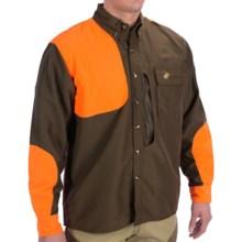 McAlister Front Load Upland Shirt - Long Sleeve (For Big Men) in Olive/Blaze Orange - Closeouts
