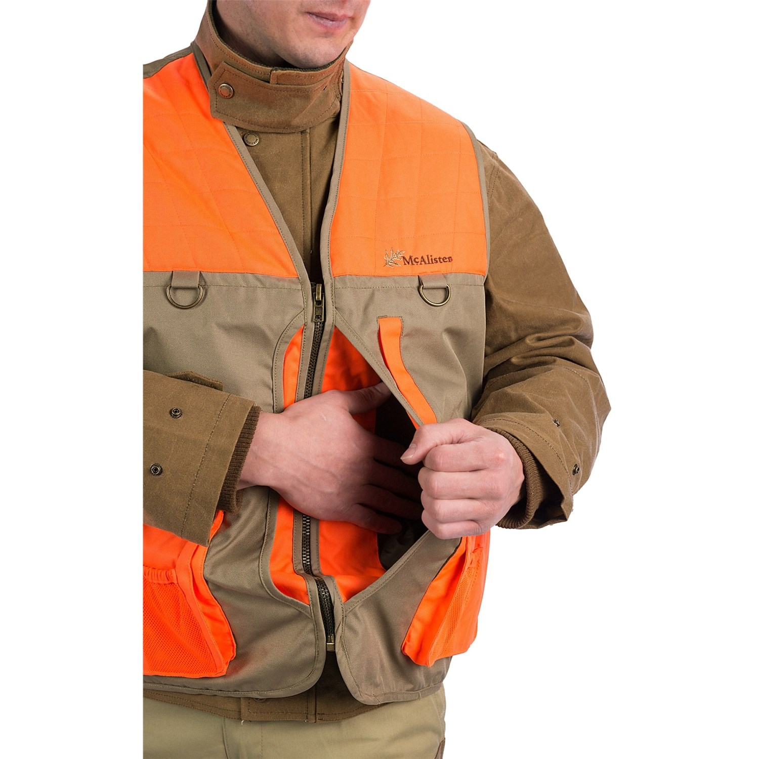 """upland guys With the """"major i"""" upland field vest, you'll never be without a place to store your stuff men's upland field hunting vest """"major i."""