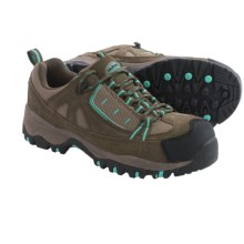McRae EH Hiker Work Shoes - Composite Toe (For Women) in Tan/Turquoise - Closeouts