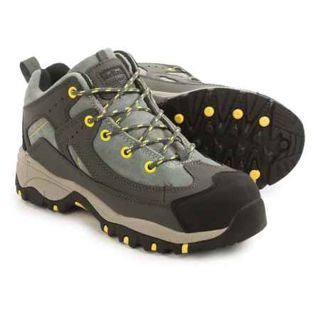 McRae Mid-Height Steel Toe Work Boots - Nubuck-Suede (For Women) in Dark Grey/Light Grey - Closeouts