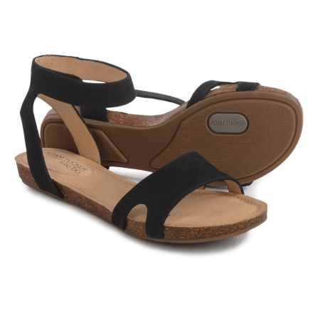 Me Too Adam Tucker Newport Sandals - Nubuck (For Women) in Black - Closeouts