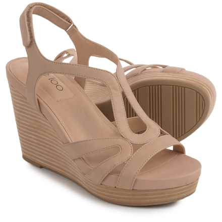 Me Too Alanna Platform Wedge Sandals - Leather (For Women) in Wheat - Closeouts