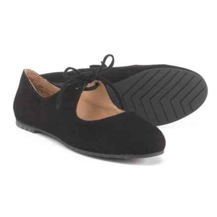 Me Too Cacey Tie Ballet Flats - Suede (For Women) in Black Suede - Closeouts