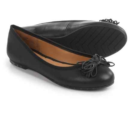Me Too Cassi Ballet Flats - Leather (For Women) in Black Leather - Closeouts