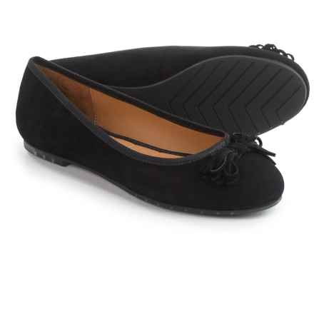Me Too Cassi Ballet Flats - Leather (For Women) in Black Suede - Closeouts