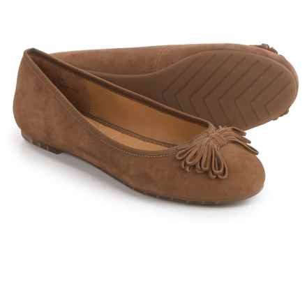 Me Too Cassi Ballet Flats - Leather (For Women) in Chestnut Suede - Closeouts