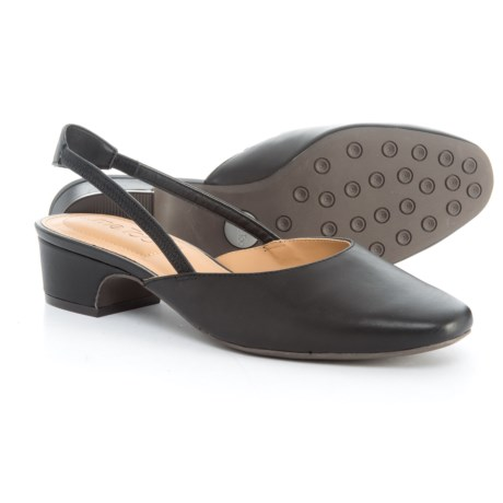 Me Too Gianna1 Slingback Shoes - Leather (For Women) in Black Leather