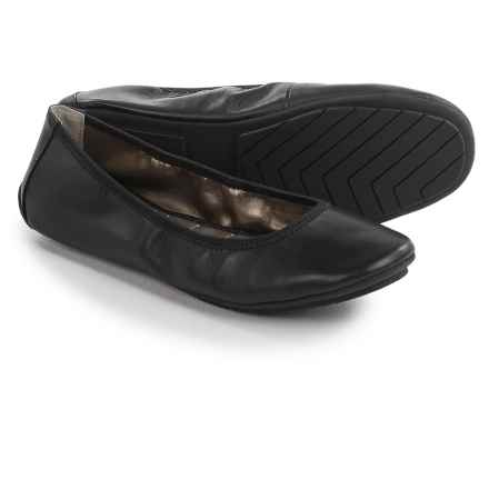 Me Too Icon Ballet Flats - Leather (For Women) in Black Leather - Closeouts
