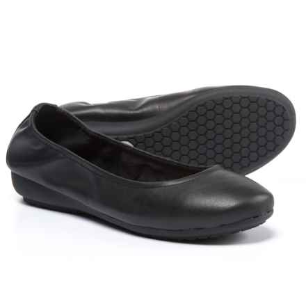 Me Too Janell Ballet Flats - Leather (For Women) in Black Leather - Closeouts