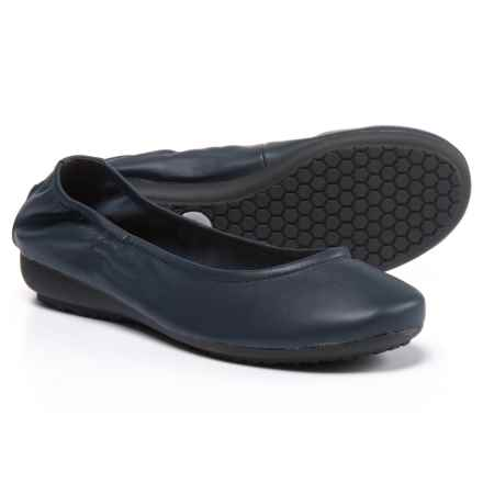 Me Too Janell Ballet Flats - Leather (For Women) in Navy Leather - Closeouts