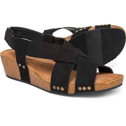 Me Too Lola Wedge Sandals (For Women) in Black