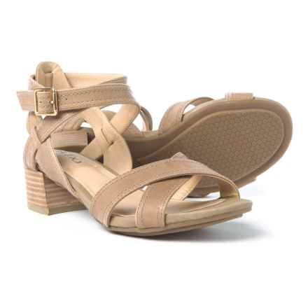 Me Too Mia Sandals - Leather (For Women) in Stone - Closeouts