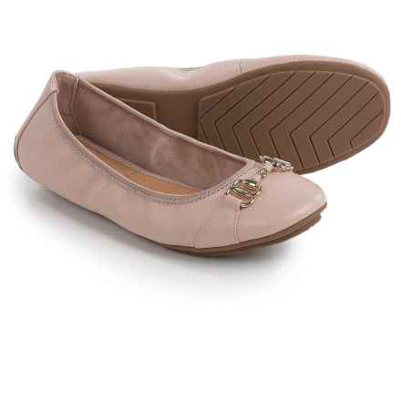 Me Too Olympia Ballet Flats - Leather (For Women) in Cipria - Closeouts