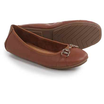 Me Too Olympia Ballet Flats - Leather (For Women) in Luggage - Closeouts