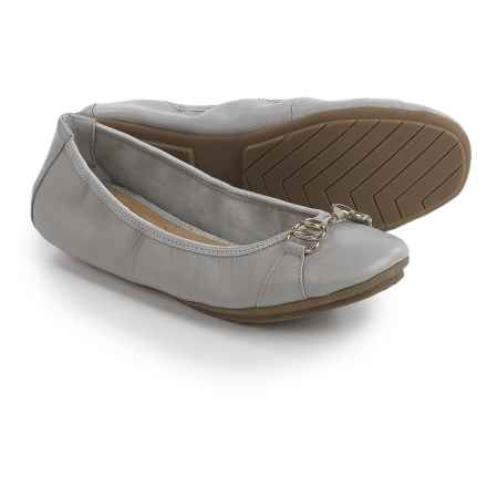 Me Too Olympia Ballet Flats - Leather (For Women) in Stone - Closeouts