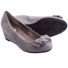 Me Too Shelby Wedge Pumps - Suede (For Women) in Slate Grey Suede - Closeouts