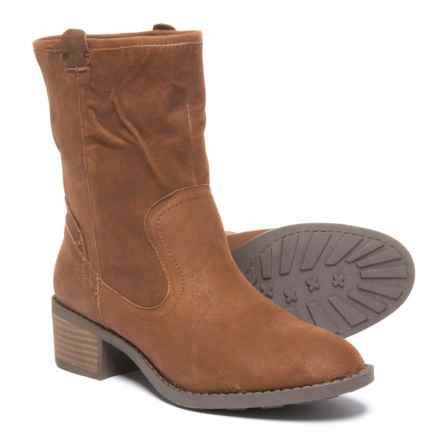 Me Too Tanger Mid Boots - Leather (For Women) in Luggage - Closeouts