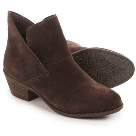 Me Too Zale Ankle Boots  (For Women) in Chocolate Suede - Closeouts