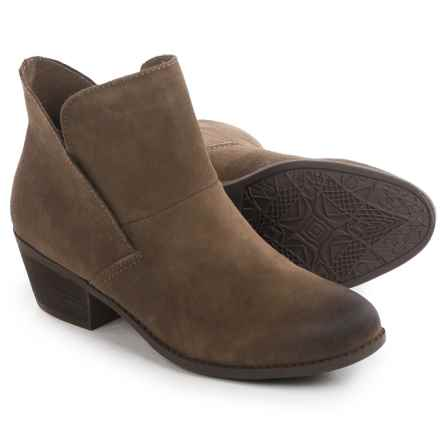 Me Too Zale Ankle Boots  (For Women) in Nutmeg Suede - Closeouts