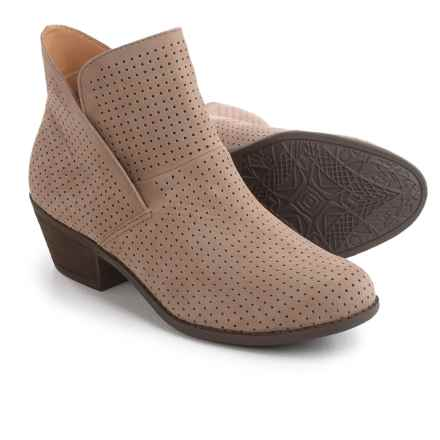 Me Too Zinnia Perforated Leather Boots (For Women) in Rosewood - Closeouts