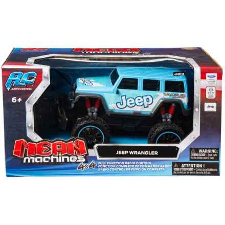 MEAN machines Blue Jeep Wrangler Unlimited Remote-Controlled Car in See Photo - Closeouts