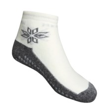 Medima Comfort Slipper Socks - Midweight, Wool-Angora (For Men and Women) in White/Grey - Closeouts