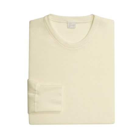 Medima Merino Wool-Angora Underwear Shirt - Lightweight, Long Sleeve (For Men) in White