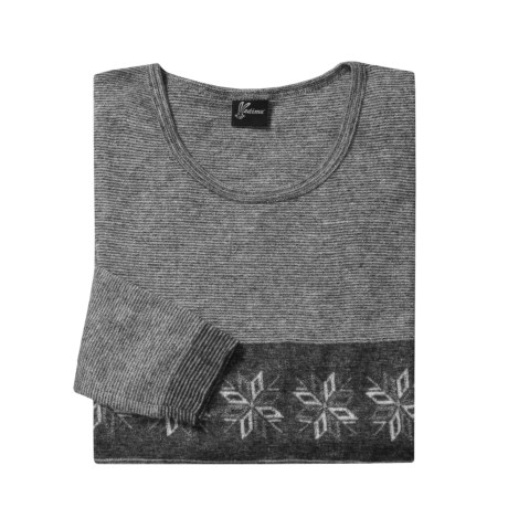 Medima Snowflake Wool-Angora Shirt - Lightweight, Long Sleeve (For Men) in Black