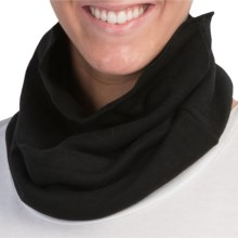 Medima Wool-Angora Neck Warmer - Heavyweight (For Women) in Black - Closeouts