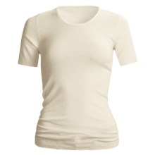 Medima Wool-Angora Shirt - Lightweight, Short Sleeve (For Women) in White - Closeouts
