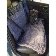 Mega Pet Car Back Seat Cover in Stone/Black - Closeouts