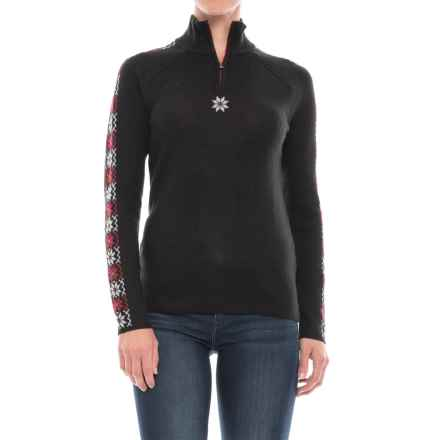 Meister Abby Zip Neck Sweater (For Women) in Black - Closeouts