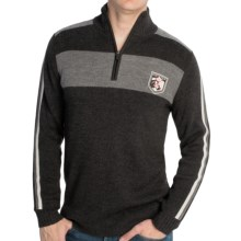 Meister Champion Sweater - Merino Wool Blend, Zip Neck (For Men) in Charcoal Heather/Gray/White - Closeouts
