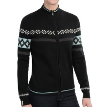 Meister Claire Sweater - Wool Blend, Full Zip (For Women) in Black/Cornflower/Winter White - Closeouts
