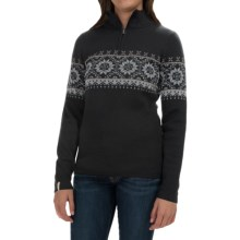 Meister Cortina Sweater - Wool Blend, Zip Neck (For Women) in Black/Grey/Bronze - Closeouts