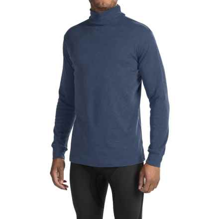 Meister Cotton Turtleneck - Long Sleeve (For Men) in Denim - Closeouts