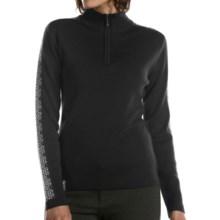Meister Dani Sweater - Wool Blend, Zip Neck (For Women) in Black/Winter White - Closeouts