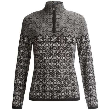 Meister Grace Sweater - Wool, Zip Neck (For Women) in Black / White