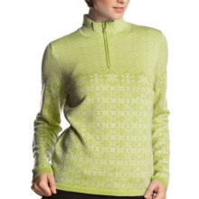 Meister Grace Sweater - Wool, Zip Neck (For Women) in Lime - Closeouts