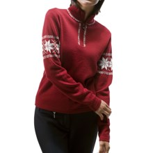 Meister Hannah Sweater - Wool, Zip Neck (For Women) in Chili Red - Closeouts