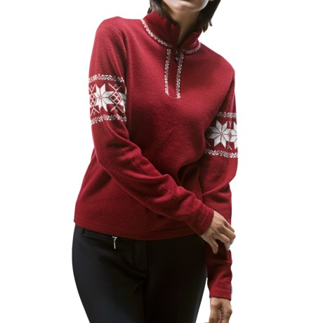 Meister Hannah Sweater - Wool, Zip Neck (For Women) in Chili Red