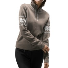 Meister Hannah Sweater - Wool, Zip Neck (For Women) in Taupe - Closeouts