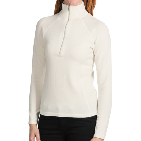 Meister Hayley Sweater - Wool Blend, Zip Neck (For Women) in Winter White