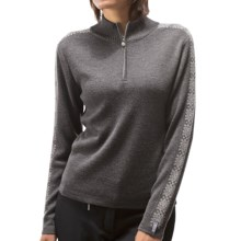 Meister Hilary Sweater - Zip Neck (For Women) in Charcoal Heather - Closeouts