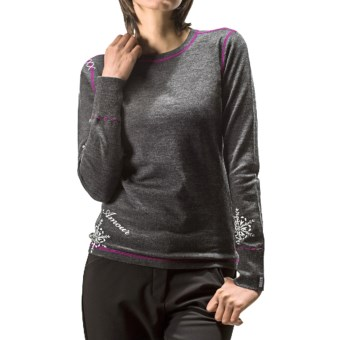 Meister Hug Me Sweater - Stretch Merino Wool (For Women) in 028 Charcoal/Dahlia