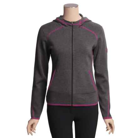 Meister Jenny Hoodie Sweater - Zip Front (For Women) in Charcoal Heather/Plum - Closeouts