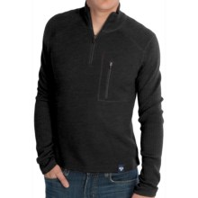 Meister Jeremy Sweater - Merino Wool, Zip Neck (For Men) in Charcoal Heather - Closeouts