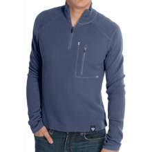 Meister Jeremy Sweater - Merino Wool, Zip Neck (For Men) in Deep Navy - Closeouts
