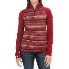 Meister Jordana Sweater - Zip Neck (For Women) in Chili Red/Winter White - Closeouts